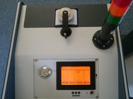 Aer 5200 top plate with filter roll, detector head, and stacked signal lights
