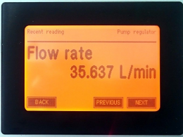 Flow rate regulation