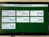 Radon online monitoring in buildings and facilities